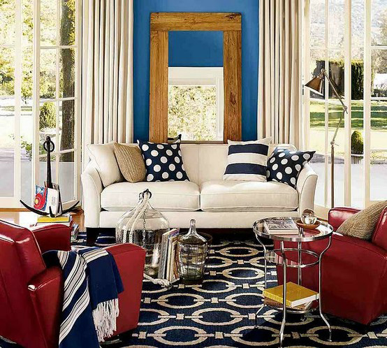 Red, white & blue rooms