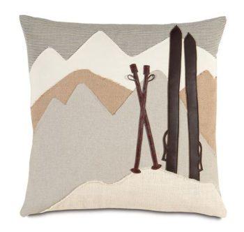 Ski Mountain Pillow