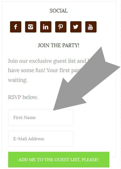 join the party sign up