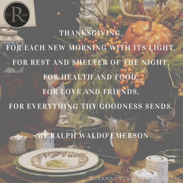 A Thanksgiving message