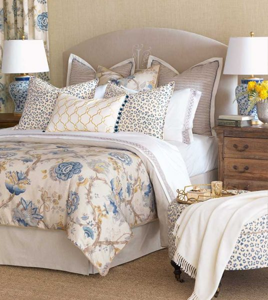 Relaxing Master Bedroom with blues and creams