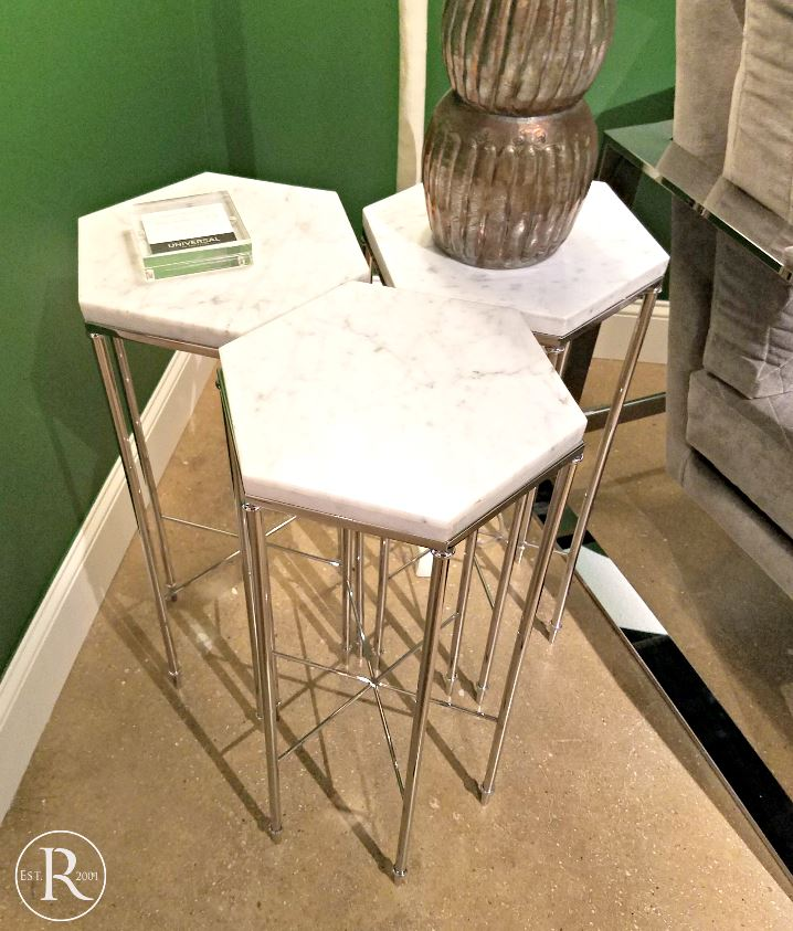 High Point Trends geometric side tables