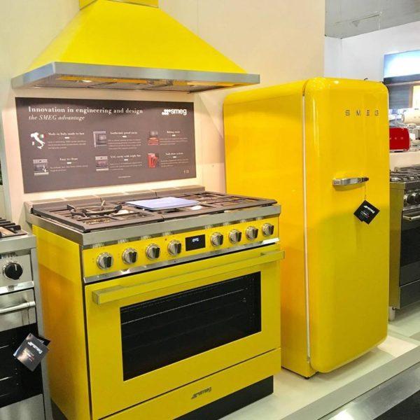 Yellow appliances by Smeg